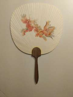 Japanese paper painted hand fan