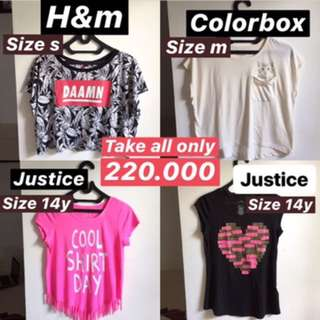TAKE ALL ONLY 220.000 // H&M COLORBOX JUSTICE