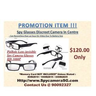 Spy Glasses Discreet HD