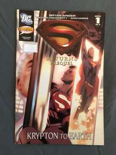 DC Superman Returns Prequel : Krypton to Earth