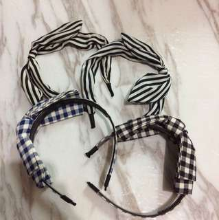 可愛蝴蝶結頭箍