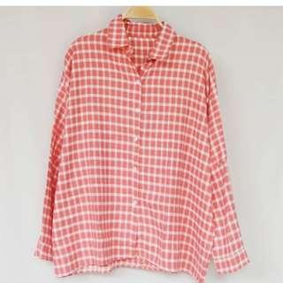 NEW Tartan oversize shirt