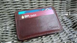 Saddleback card wallet full grain leather