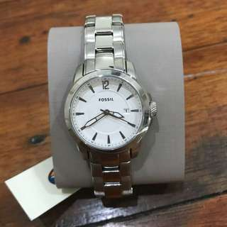 Fossil silver watch for women