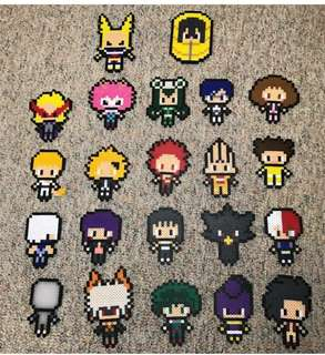 Hama beads design Anime all might and eraserheads my hero academia