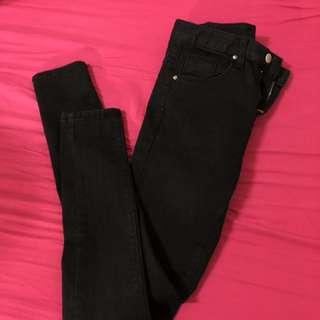 韓國-5kg jeans 黑色牛仔褲