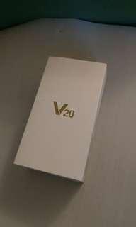 V20 盒 (沒有手機,沒有充電器及線,沒有耳機)