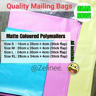 💧Coloured POLYMAILERS