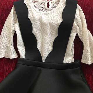 Korean style dress for girls (7-8Y)