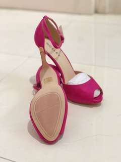Pink Open Toe High heels