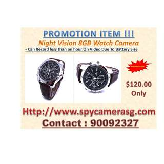 Spy Watch Camera 8gb Lather Made