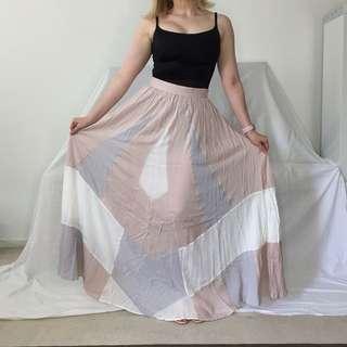 Talulah Cotton Geometric Maxi Skirt Sz 10 (fits 8)