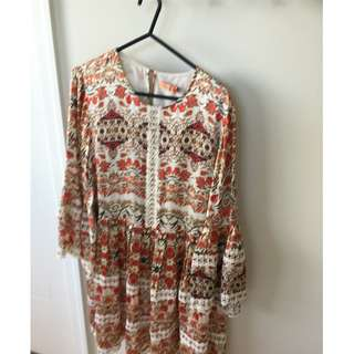 Silk day dress