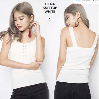OOTD LEENA KNIT WHITE TOP