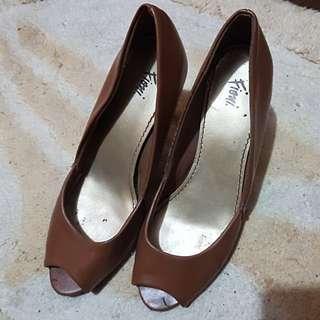 Brown office heels