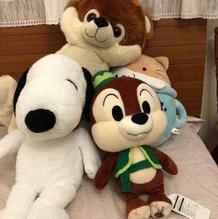 Hong Kong Ocean Park and Tokyo Disney Sea soft toys