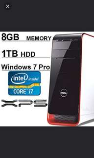 FIXED PRICE : DELL XPS Solid gaming desktop Core i7 Graphics GeForce 1TB HDD