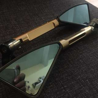 side mirror 3 bucu,cermin blue (anti silau)