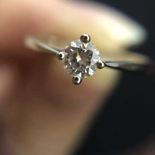 Diamond Ring 0.24ct 18k size11