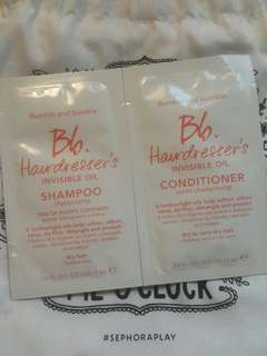 Bumble and bumble bb hairdresser's invisible oil shampoo and conditioner 洗頭水護髮素試用