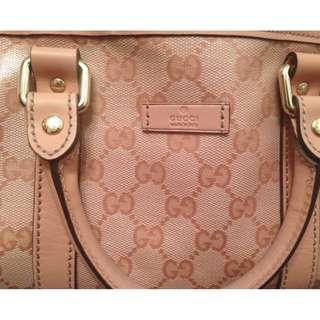 Gucci Baby Pink Monogram Handbag