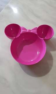 Pink minnue mouse bowl
