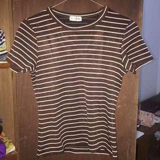 Tshirt brown crop