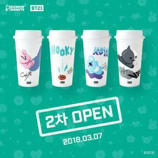 DUNKIN' DONUTS BT21 2ND BATCH RELEASE