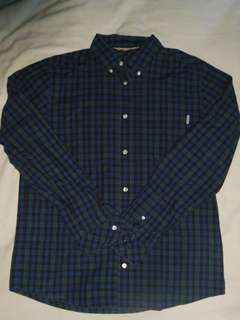 Carhartt WIP Blue Sims Check Button Up Shirt Size L