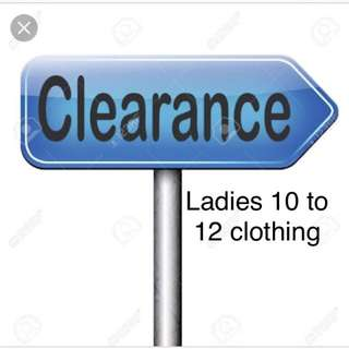 Huge clothing clear out sizes 10 to 12