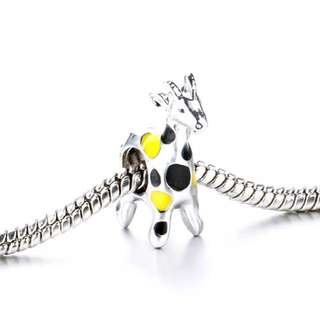 Yellow And Black Spots Deer Animal Charm