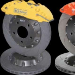 D1 SPEC 6 pot mini brake kit for lancer glx cs3
