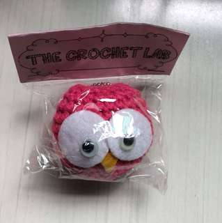 Handmade owl keychain