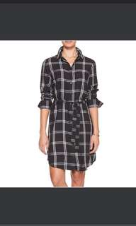 Banana republic plaid shirt dress