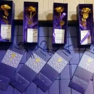 (現貨-$100 10支) 金箔玫瑰花 單支 花束 母親節 情人節 禮物 生日 結婚 週年 紀念 慶祝