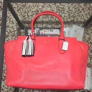 COACH Pink Legacy Medium Candace Carryall