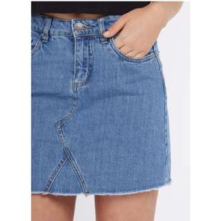 HW Denim Skirt - Perfect Jean Ginatricot