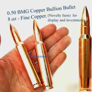 Solid Copper Bullion Bullet