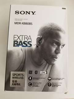 Sony MDR-XB80BS 藍芽耳機 Bluetooth headset