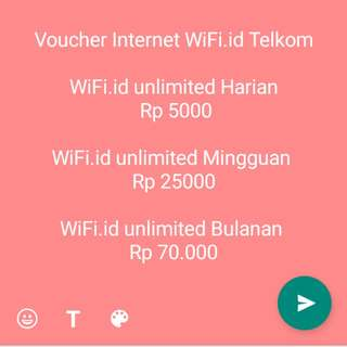 VOUCHER INTERNET WIFI.ID TELKOMSEL Bulanan