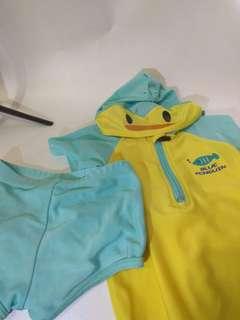Baju Renang 2 pcs Anak Cowo Penguin size 100