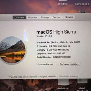 Macbook Pro 2013 ( Retina )
