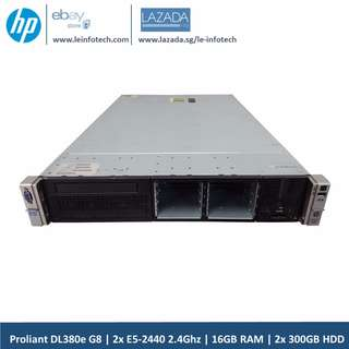 HP Proliant DL380e G8 Server 12Core E5-2440 16GB 2x 300GB SAS 10K 2x PSU