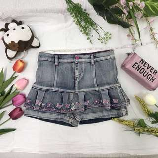 Denim skirt_flower💚
