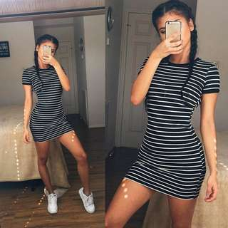 (PO) Stripes Bodycon Dress 💗🌻