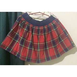 Authentic HOLLISTER Red Plaid Mini Skirt
