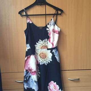ZALORA LOVE BACK DRESS FLORAL
