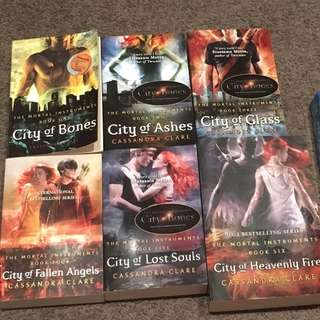 Cassandra Clare's The Mortal Instruments series and The Bane Chronicles