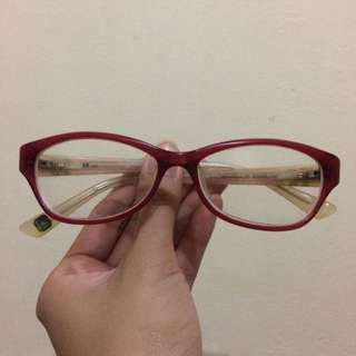 Red Eyeglass Frame