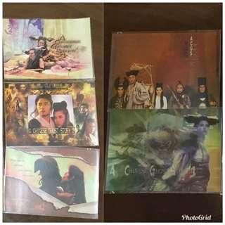 張國榮主演「倩女幽一風」電影postcard, 一套5張
